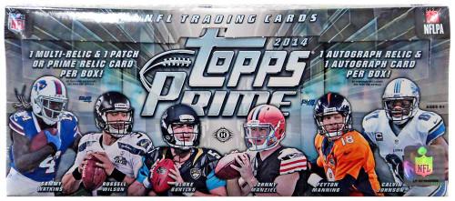 NFL Topps 2014 Prime Football Trading Card HOBBY Box [10 Packs]