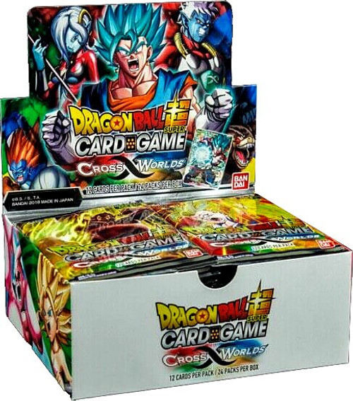 Dragon Ball Super Trading Card Game Series 3 Cross Worlds Booster Box DBS-B03 [24 Packs With 2 Dash Packs]
