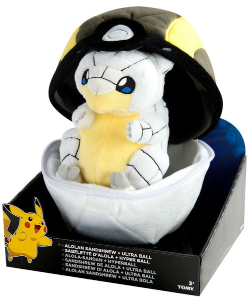 Pokemon Alolan Sandshrew & Ultra Ball Zipper Poke Ball 8-Inch Plush