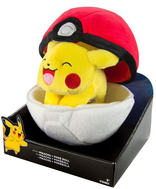 Pokemon Pikachu & Poke Ball Zipper Poke Ball 8-Inch Plush