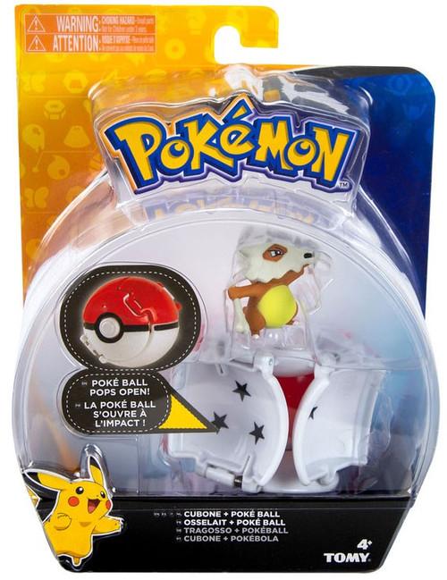 Pokemon Throw 'n' Pop Pokeball Cubone & Poke Ball Figure Set