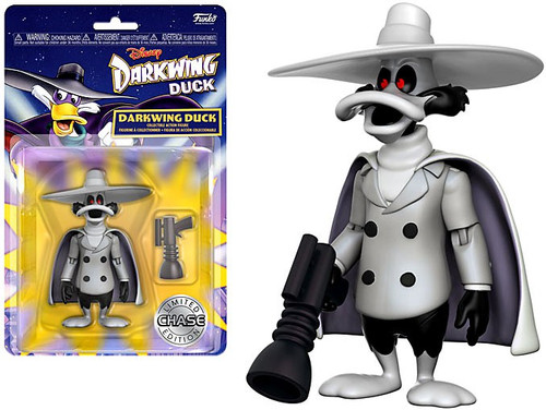 Funko Disney Afternoon Darkwing Duck Action Figure [Black & White, Chase Version]