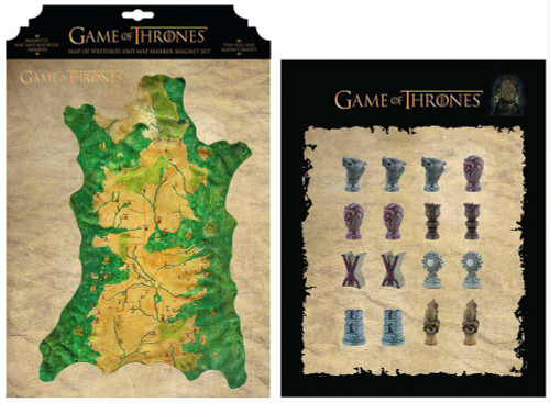 Game of Thrones Westeros Map Magnet Set