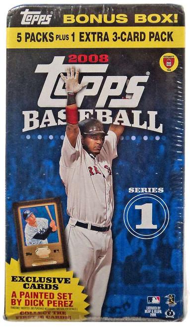 MLB Topps 2008 Series 1 Baseball Trading Card BONUS Box [5 Packs + 1 Extra Pack]