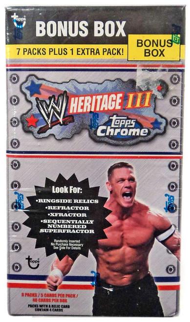 WWE Wrestling Topps 2006 WWE Heritage Series 3 Trading Card BLASTER Box [7 Packs & 1 Extra Pack]