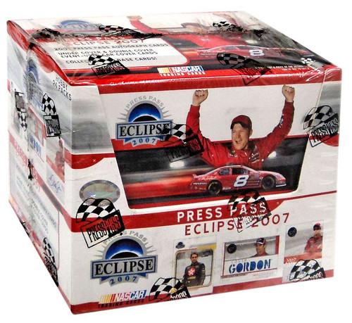 NASCAR Panini Press Pass Eclipse 2007 Trading Card Hobby Box
