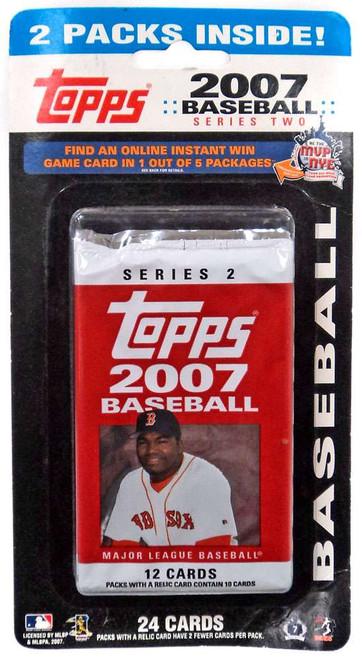 MLB Topps 2007 Baseball Series 2 Trading Card HANGER 2-Pack