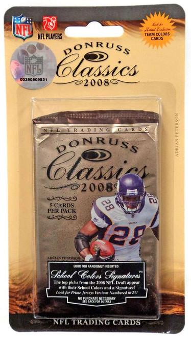 NFL Panini 2008 Donruss Classic Football Trading Card Pack [5 Cards]