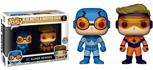 Funko DC Universe POP! Heroes Booster Gold & Blue Beetle Exclusive Vinyl Figure 2-Pack [Regular Version]