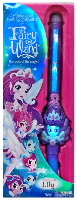 Of Dragons, Fairies & Wizards Lily Magic Fairy Wand [Purple]