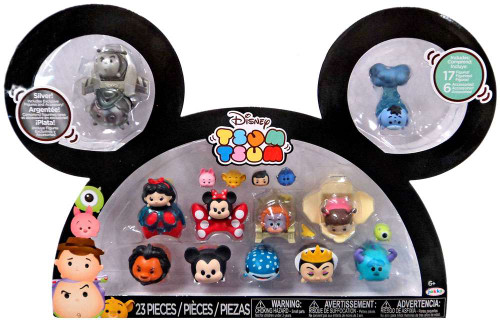 Disney Tsum Tsum Buzz, Woody, Snow White, Minnie, King Louie, Boo, Scar, Mickey, Destiny, Maleficent, Sully & Eeyore Exclusive 1-Inch Minifigure 17-Pack