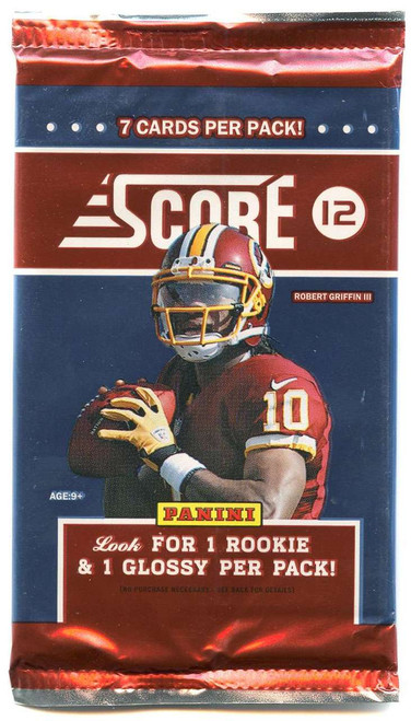 NFL Panini 2012 Score Football Trading Card Pack [7 Cards, 1 Rookie Per Pack!]