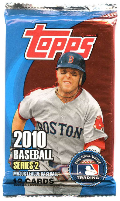 MLB Topps 2010 Series 2 Baseball Trading Card Pack [12 Cards!]