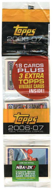NBA Topps 2006-07 Basketball Trading Card RACK Pack [18 Cards + 3 Extra Vintage!]