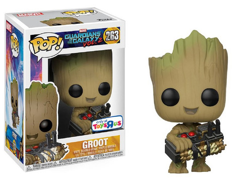 Funko Guardians of the Galaxy Vol. 2 POP! Marvel Groot Exclusive Vinyl Bobble Head #263 [Holding Bomb]