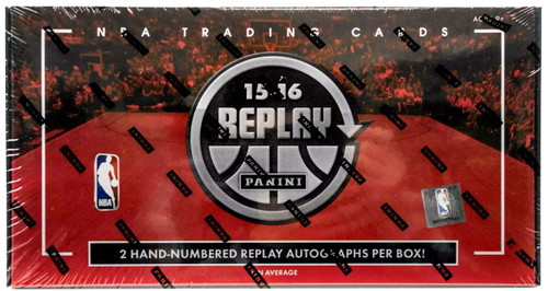 NBA Panini 2015-16 Replay Basketball Trading Card HOBBY Box