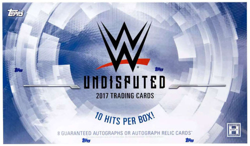 WWE Wrestling Topps WWE 2017 Undisputed Trading Cards HOBBY Box [10 Packs]