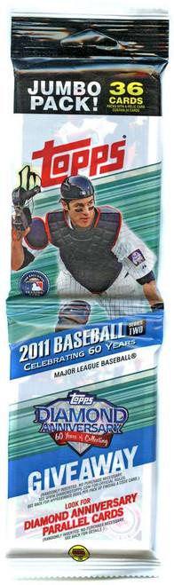 MLB Topps 2011 Baseball Trading Card JUMBO Pack [36 Cards]
