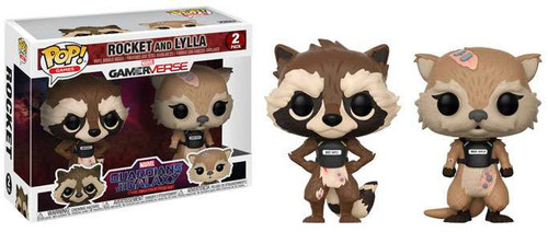 Funko Marvel Gamerverse Guardians of the Galaxy: The Telltale Series POP! Games Rocket & Lylla Vinyl Figure 2-Pack