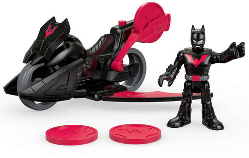 Fisher Price DC Super Friends Imaginext Batman & Vehicle 3-Inch Figure Set