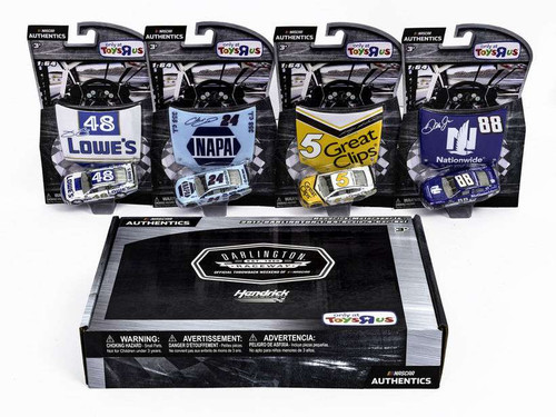 NASCAR Hendrick Motorsports 2017 Darlington Johnson, Elliott, Kahne & Earnhardt Jr. Exclusive Die Cast Car 4-Pack [Lowe's, NAPA, Great Clips & Nationwide]