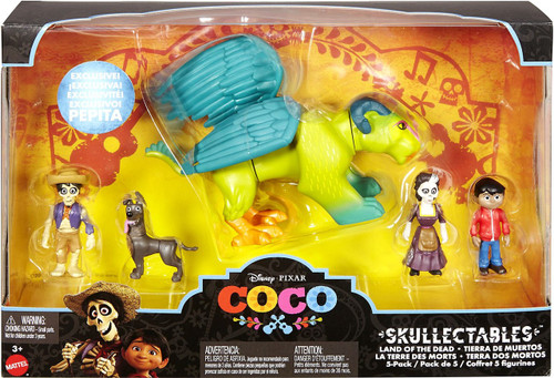 Disney / Pixar Coco Skullectables Land of the Dead Mini Figure 5-Pack Set