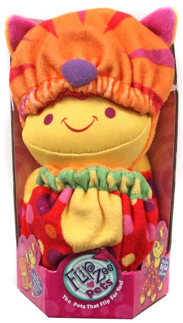 FlipZee! Pets Red & Orange Cat Plush Doll