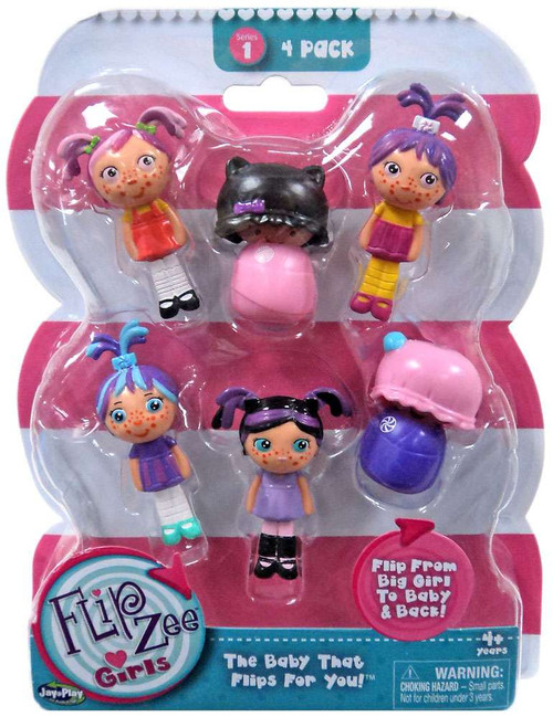 FlipZee! FlipZee Girls! Series 1 Mini Figure 4-Pack [Style 2]