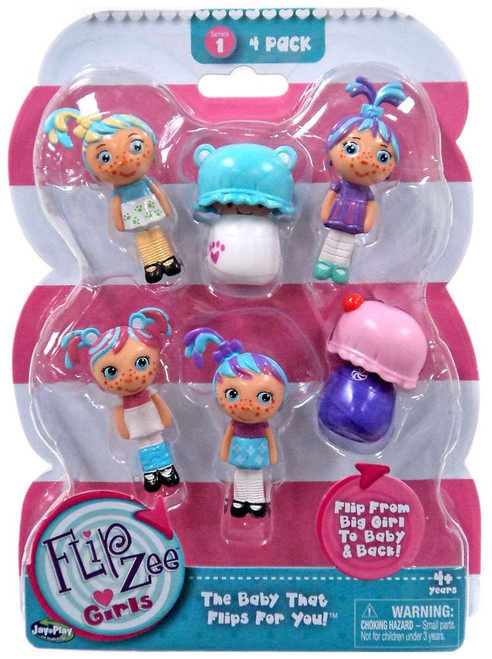FlipZee! FlipZee Girls! Series 1 Mini Figure 4-Pack [Style 5]