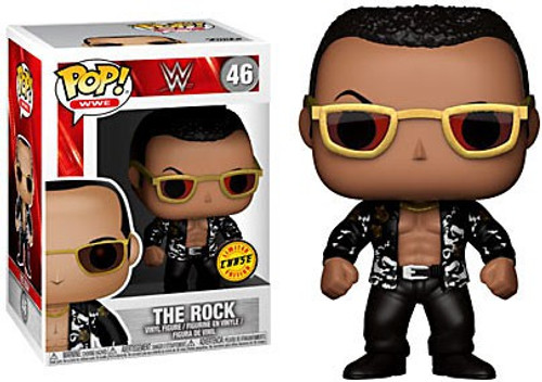 Funko WWE Wrestling POP! Sports The Rock Old School Vinyl Figure #46 [Black Shirt, Chase Version]