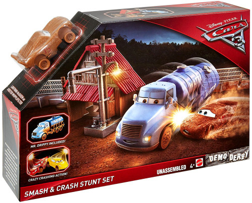 Disney / Pixar Cars Cars 3 Demo Derby Smash & Crash Stunt Set Playset
