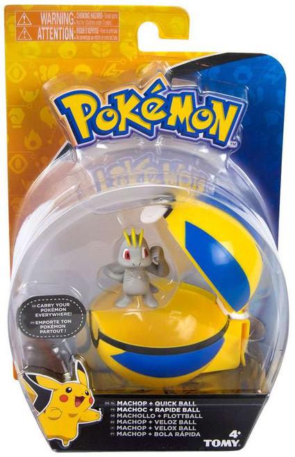 Pokemon Clip n Carry Pokeball Machop & Quick Ball Figure Set