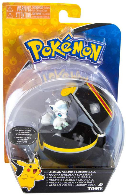 Pokemon Clip n Carry Pokeball Alolan Vulpix & Luxury Ball Figure Set
