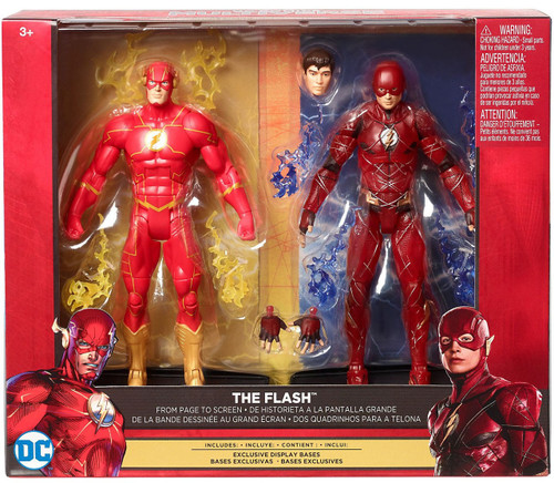 DC Justice League Movie Multiverse The Flash Exclusive Action Figure 2-Pack [From Page to Screen]