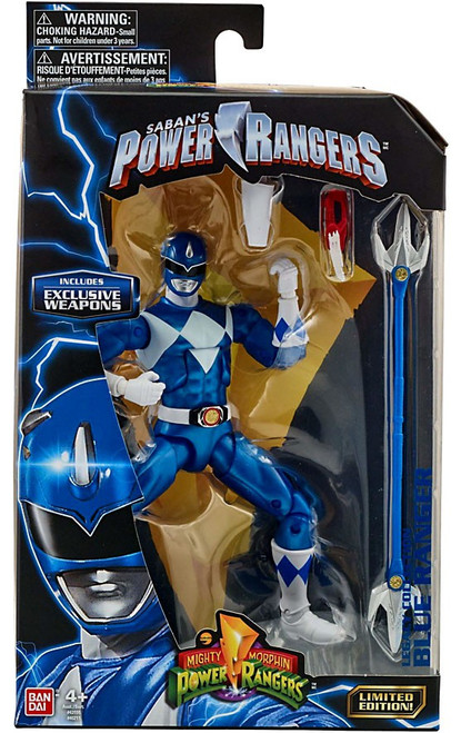 Power Rangers Mighty Morphin Legacy Blue Ranger Action Figure [Metallic, MMPR]