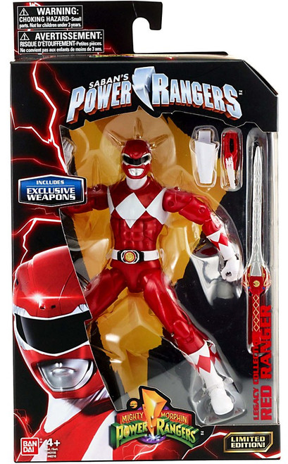 Power Rangers Mighty Morphin Legacy Red Ranger Action Figure [Metallic, MMPR]