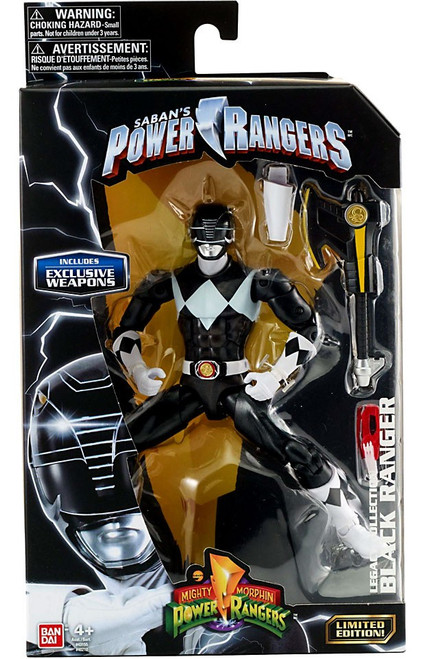 Power Rangers Mighty Morphin Legacy Black Ranger Action Figure [Metallic, MMPR]