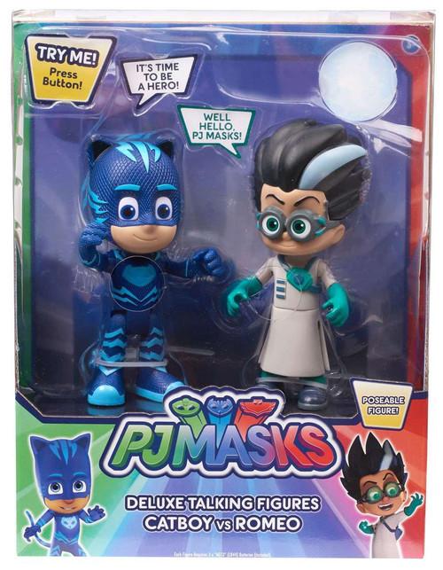Disney Junior PJ Masks Catboy & Romeo Exclusive Talking Action Figure 2-Pack