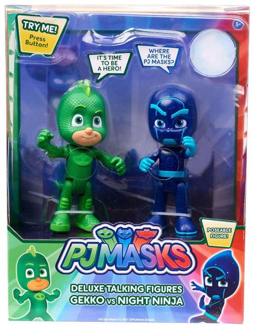 Disney Junior PJ Masks Gekko & Night Ninja Exclusive Talking Action Figure 2-Pack