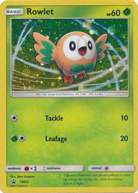 Pokemon Sun & Moon Promo Holo Rare Rowlet SM22