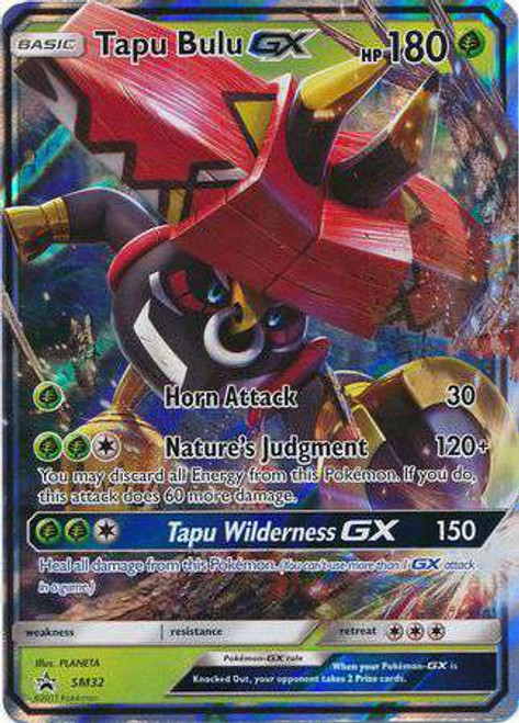Pokemon Sun & Moon Promo Ultra Rare Tapu Bulu GX SM32