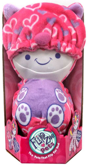 FlipZee! Pets Pink Hearts Cat Plush Doll