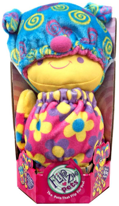 FlipZee! Pets Pink Flowers Dog Plush Doll