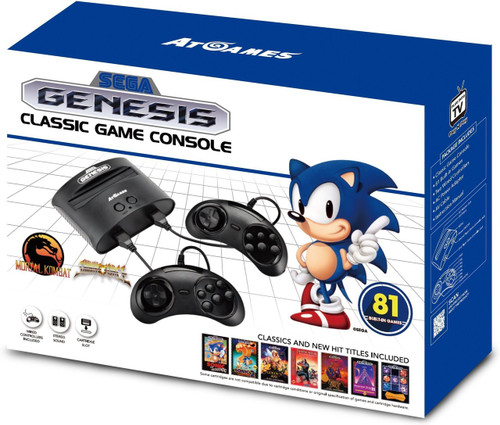 2017 Sega Genesis Classic Video Game Console [81 Games]