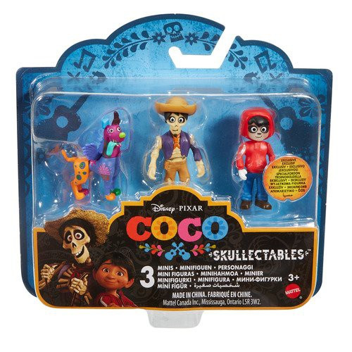 Disney / Pixar Coco Skullectables Miguel, Hector & Dog Mini Figure 3-Pack Set