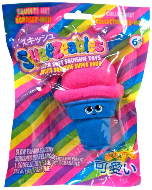 Squeezeables Series 1 Ice Cream Cone Squeeze Toy [Blue]