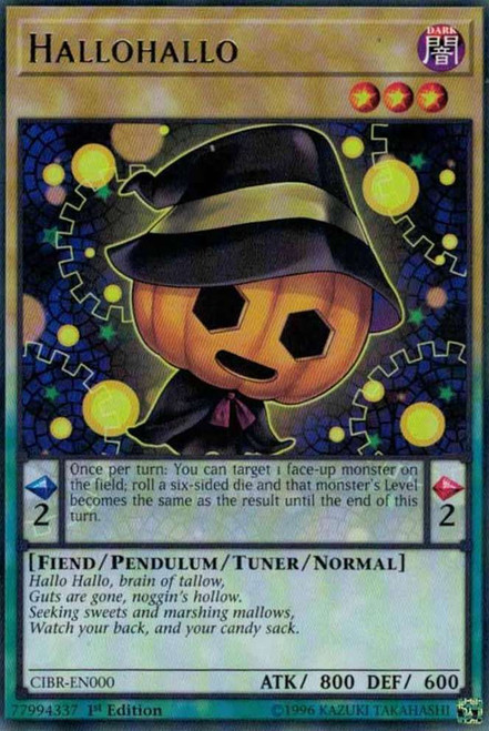YuGiOh Circuit Break Rare Hallohallo CIBR-EN000