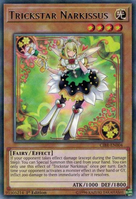YuGiOh Circuit Break Rare Trickstar Narkissus CIBR-EN004