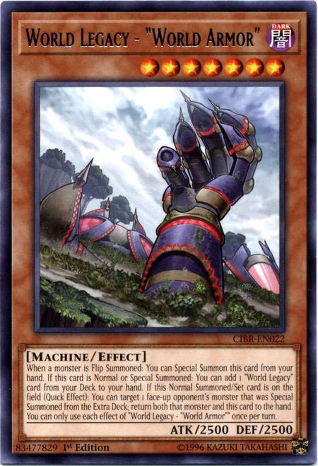 YuGiOh Circuit Break Rare World Legacy - World Armor CIBR-EN022
