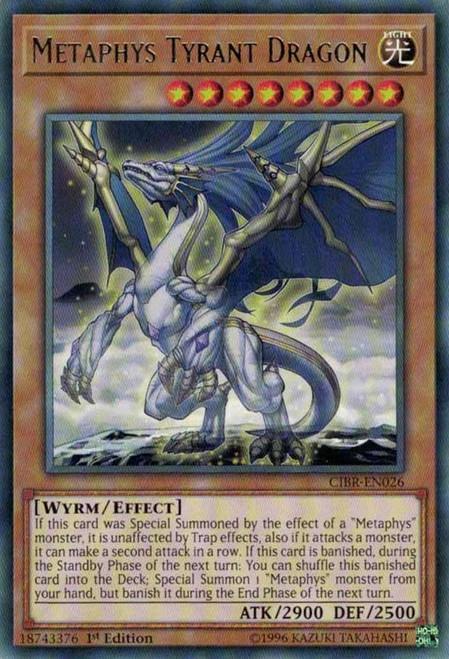YuGiOh Circuit Break Rare Metaphys Tyrant Dragon CIBR-EN026